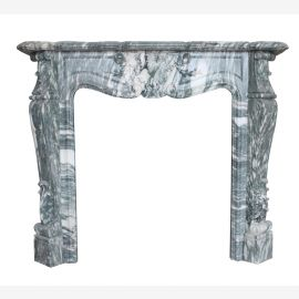 Marble fireplace, fireplace facade made to measure solid marble K024