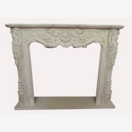 Marble fireplace, fireplace facade made to measure solid marble K026
