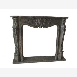 Marble fireplace, fireplace facade made to measure solid marble K030