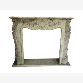 Marble fireplace, fireplace facade made to measure solid marble K031