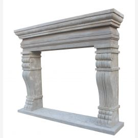 Marble fireplace, fireplace facade made to measure solid marble K039