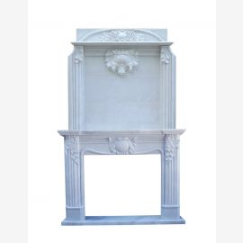 Marble fireplace, fireplace facade made to measure solid marble K045