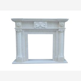 Marble fireplace, fireplace facade made to measure solid marble K049