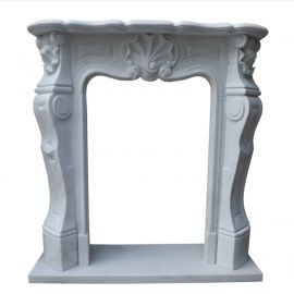 Marble fireplace, fireplace facade made to measure solid marble K056
