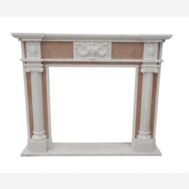 Marble fireplace, fireplace mantel made to measure solid marble K060