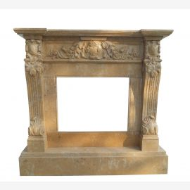 Marble fireplace, fireplace mantel made to measure solid marble K064
