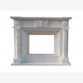 Marble fireplace, fireplace mantel made to measure solid marble K066
