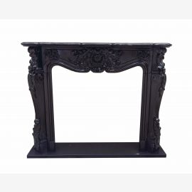 Marble fireplace, fireplace mantel made to measure solid marble K068