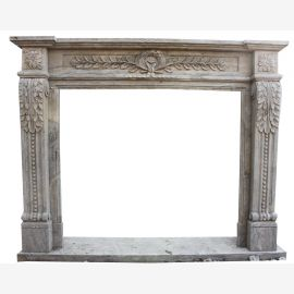 Marble fireplace, fireplace mantel made to measure solid marble K072