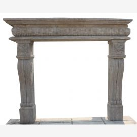 Marble fireplace, fireplace mantel custom made solid marble K074