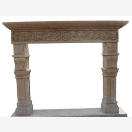 Marble fireplace, fireplace mantel made to measure solid marble K075