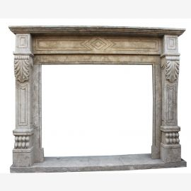 Marble fireplace, fireplace mantel made to measure solid marble K077