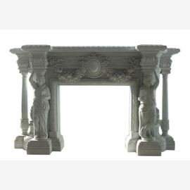 Marble fireplace, fireplace mantel made to measure solid marble K081