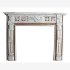 Marble fireplace, fireplace mantel made to measure solid marble K084