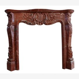 Marble fireplace, fireplace mantel made to measure solid marble K085