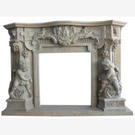 Marble fireplace, fireplace mantel made to measure solid marble K091