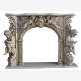 Marble fireplace, fireplace mantel made to measure solid marble K092