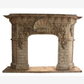 Marble fireplace, fireplace mantel made to measure solid marble K098