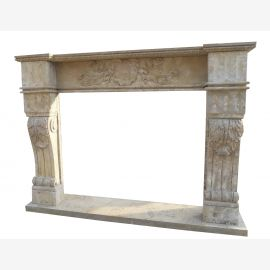 Marble fireplace, fireplace mantel made to measure solid marble K099