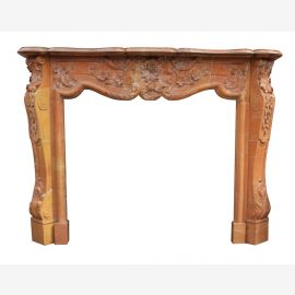 Marble fireplace, fireplace mantel made to measure solid marble K100
