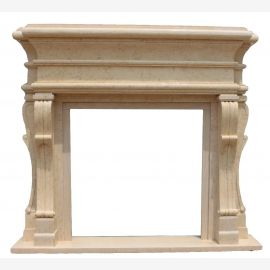 Marble fireplace, fireplace mantel made to measure solid marble K102