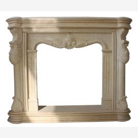 Marble fireplace, fireplace mantel made to measure solid marble K109