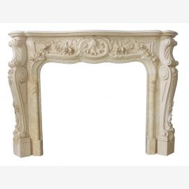 Marble fireplace, fireplace mantel made to measure solid marble K110