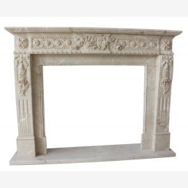 Marble fireplace, fireplace mantel made to measure solid marble K111