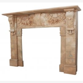 Marble fireplace, fireplace mantel made to measure solid marble K113