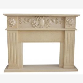 Marble fireplace, fireplace mantel made to measure solid marble K116