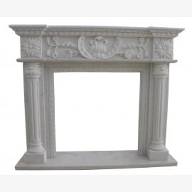 Marble fireplace, fireplace mantel made to measure solid marble K118