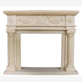 Marble fireplace, fireplace mantel made to measure solid marble K121