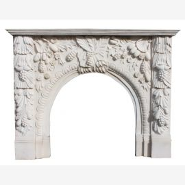Marble fireplace, fireplace mantel made to measure solid marble K123