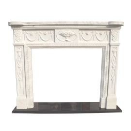 Marble fireplace, fireplace mantel made to measure solid marble K124