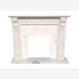Marble fireplace, fireplace mantel made to measure solid marble K125