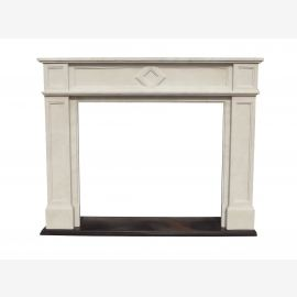 Marble fireplace, fireplace mantel made to measure solid marble K128
