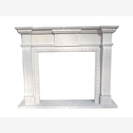 Marble fireplace, fireplace mantel made to measure solid marble K133