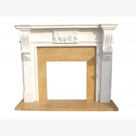 Marble fireplace, fireplace mantel made to measure solid marble K134