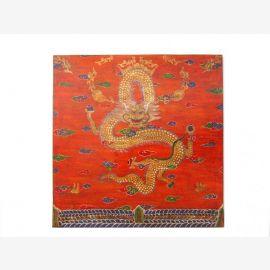 Tibet Wandbild auf gemalt auf recycletem Holzuntergrund