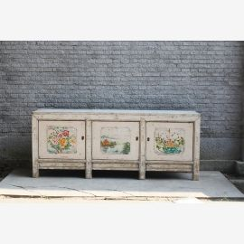 Chinese sideboard from China in natural wood ivory