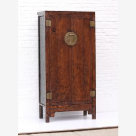 solid wood cabinet made of chine, cherry wood, metal applications