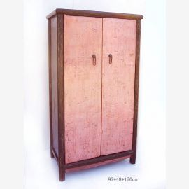 Solid wood cabinet from China with structured look