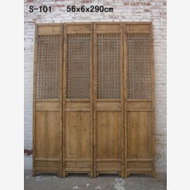chinese wall divider made of robust wood with noble carvings