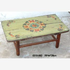 Natural wood table from China with traditional painting