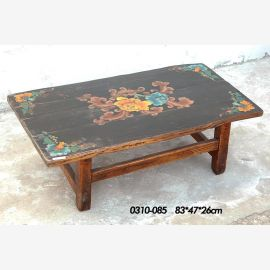 High-quality wooden table from China with traditional painting
