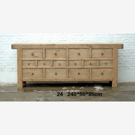 Sideboard made of excellent wood from China with drawers and contours