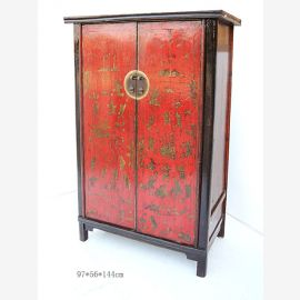 Solid wood cabinet from China with traditional colour concept and painting