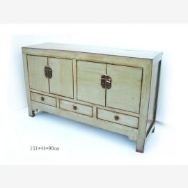 Chinese sideboard made of solid pine in used-look look