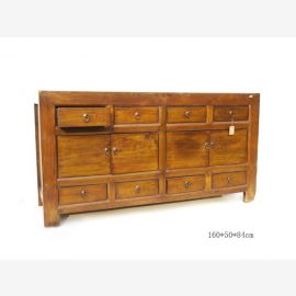 Chinese natural wood sideboard with classic lines