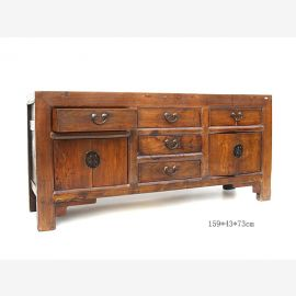 Chinese solid sideboard with metal buckles